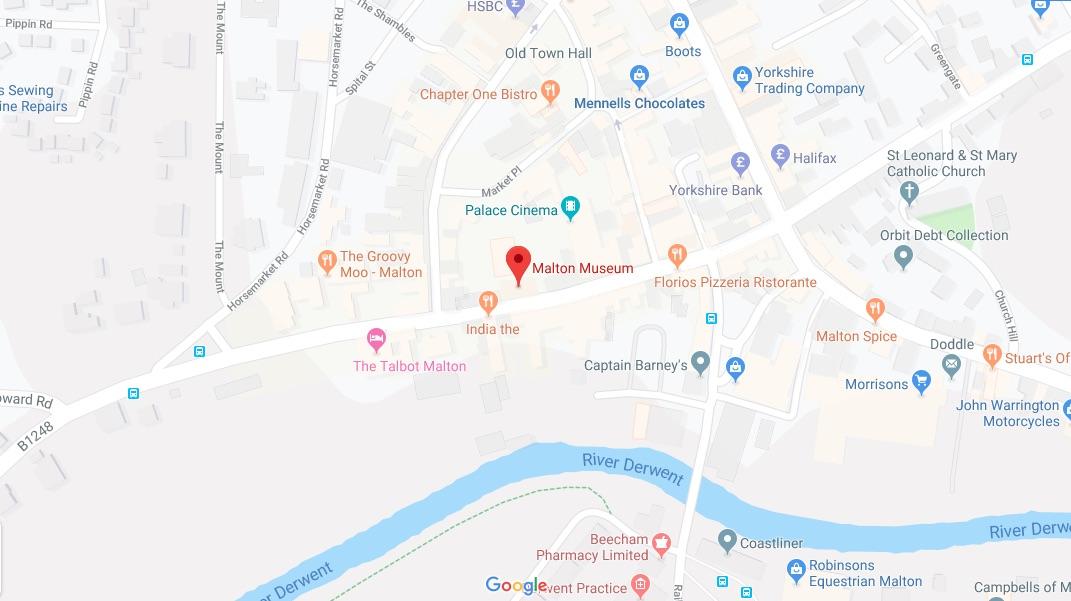 A Google map image of Malton